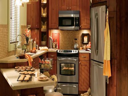 Ремонт и планировка маленькой кухни