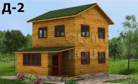 Двухэтажный дом 6х8 из бруса