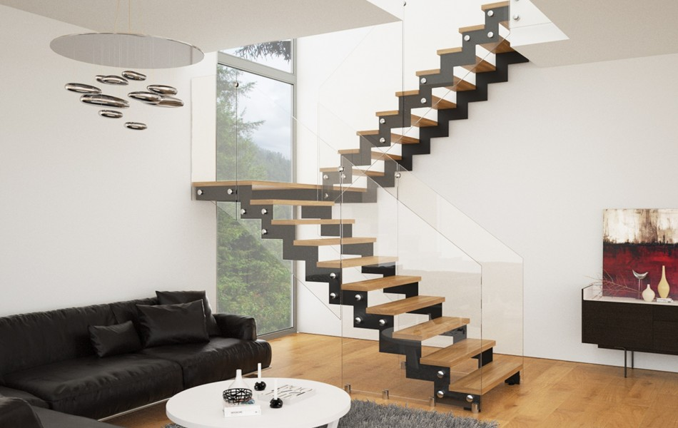 5 вариантов лестниц в интерьере гостиной4